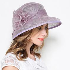 Signore stile vintage Biancheria con Fiore di seta Cappello a bombetta / Cloche