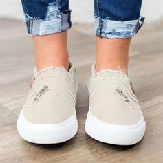 Women's Fabric Flat Heel Flats With Zipper shoes