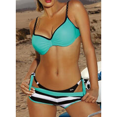 Stripe Push Up Strap Sexy Eye-catching Bikinis Swimsuits