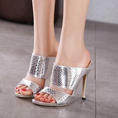 Femmes Similicuir Talon stiletto Sandales À bout ouvert Escarpins chaussures