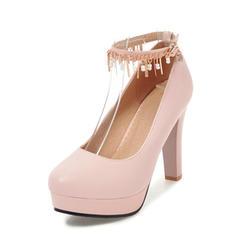 Femmes Similicuir Talon stiletto Escarpins Plateforme avec Tassel chaussures