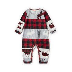 Τάρανδος Καρό ύφασμα Τυπώνω Οικογένεια Εμφάνιση Χριστουγεννιάτικες πιτζάμες