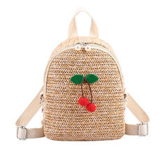 Elegant/Braided Straw Backpacks/Beach Bags