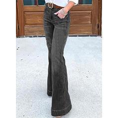 Bolsos Shirred Tamanho grande Grandes Elegante Jeans
