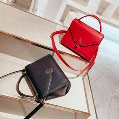 Solid Color PU Crossbody Bags/Shoulder Bags