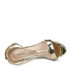 Femmes Cuir verni Talon stiletto Sandales À bout ouvert avec Boucle chaussures