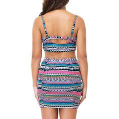 Underwire Print Strap Elegant Plus Size Bikinis Swimsuits