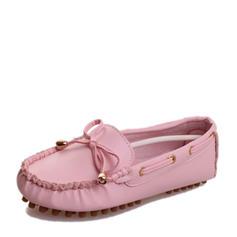 Femmes PU Talon plat Chaussures plates Bout fermé avec Tassel chaussures