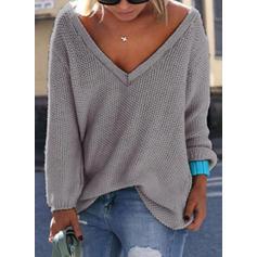 V-neck Swetry