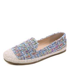 Women's Canvas Flat Heel Flats Closed Toe shoes