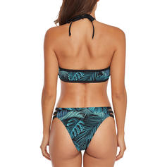 Leaves Halter Fashionable Cute Bikinis Swimsuits