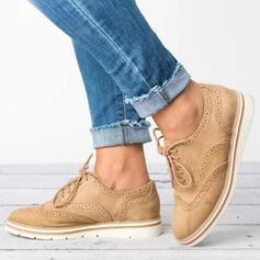 PU Tacón plano Planos con Cordones zapatos