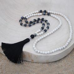 Unik Tibetansk sølv Natural Stone Turkis Damene ' Halskjeder