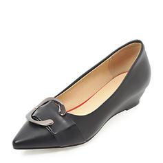 Femmes PVC Talon compensé Compensée avec Strass chaussures