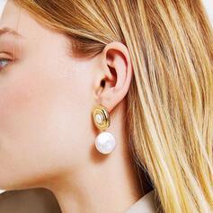Charme Le plus chaud Alliage De faux pearl avec Perle d'imitation Boucles d'oreilles