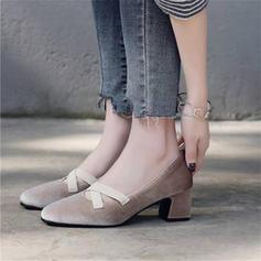 De mujer Terciopelo Tacón ancho Salón Cerrados Mary Jane con Otros zapatos