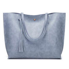 Solid Color PU Tote Bags/Shoulder Bags