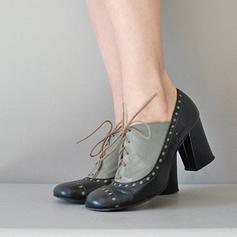 Vrouwen PU Chunky Heel Pumps met Vastrijgen schoenen