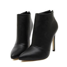 Women's Suede Stiletto Heel Pumps Boots With Zipper shoes