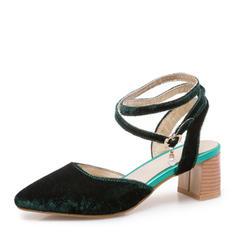 Femmes Suède Talon bottier Sandales Escarpins Escarpins avec Boucle chaussures