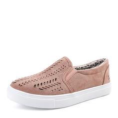 Femmes Suède Talon plat Chaussures plates Bout fermé avec Ouvertes chaussures