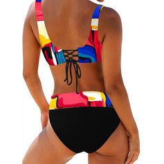 Impresión Correa Sexy Talla extra Boho Bikinis Trajes de baño