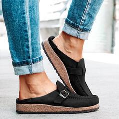 Női Szarvasbőr Lapos sarok Lakások Zárt lábujj -Val Csat cipő