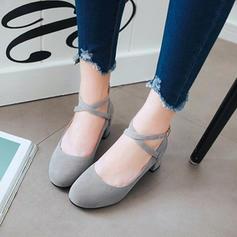 Bayanlar PU Tıknaz Topuk Pompalar Ile Toka ayakkabı