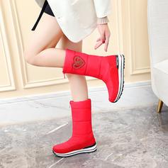 Kvinnor Tyg Låg Klack Stövlar med Zipper skor