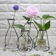 European Metal Table Vases