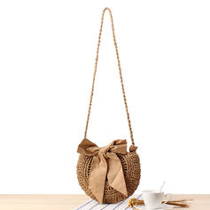 Hollow Paper Rope Shoulder Bags/Bucket Bags