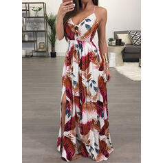 Print Sleeveless A-line Sexy/Casual/Vacation Maxi Dresses