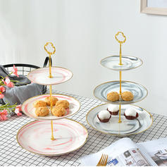 Modern Round Porcelain Serving Dishes & Platters