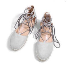 Women's Fabric Flat Heel Sandals Flats Platform With Others shoes