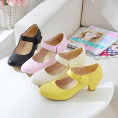 De mujer Cuero Tacón ancho con Velcro zapatos