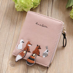 Cartoon Cute Pattern Bi-fold Small Wallet Purse Card Holder For Women
