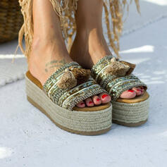 Women's PU Flat Heel With Sequin shoes