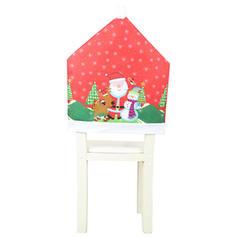 щасливого Різдва Сніговик Санта Тканина Кришка крісла