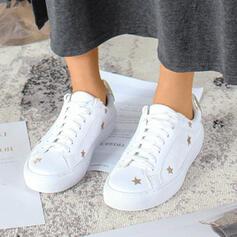 Mulheres Lona Casual Outdoor com Lantejoulas Aplicação de renda sapatos
