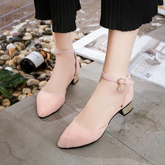 Donna PU Tacco a spillo Stiletto con Fibbia scarpe