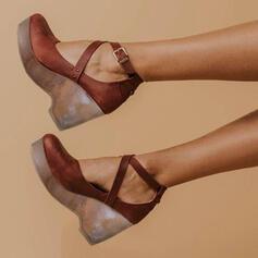 Dla kobiet PU Obcas Stiletto Sandały Czólenka Z Sznurowanie obuwie