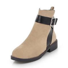 Femmes Suède Talon bas Bout fermé Bottes Bottines avec Boucle chaussures