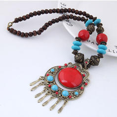Exotic Alloy Resin Women's Necklaces