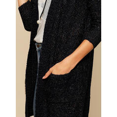 Polyester Acrylic Long Sleeves Plain Cardigans
