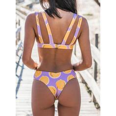Tela Escocesa Cruzar Correa Sexy Bikinis Trajes de baño