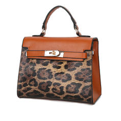 Leopard Polyester Clutches/Shoulder Bags