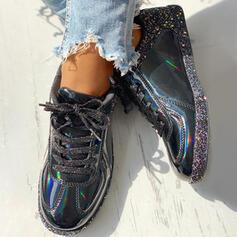 De mujer PU Casual al aire libre con Brillo Chispeante Cordones zapatos
