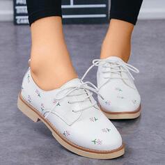 Mulheres PU Sem salto Sem salto com Flor sapatos