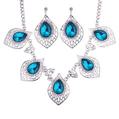 Fashionable Alloy Glass Ladies' Jewelry Sets