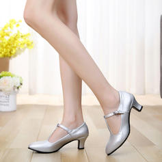 Character Shoes Heels Pumps Real Leather With Buckle Ballroom